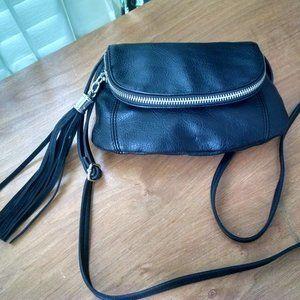 Express Black  Faux Leather Crossbody Handbag